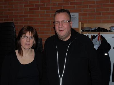 Nyvald ordförande Susanne med f.d. ordförande Lars